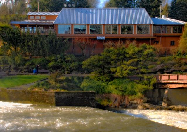 Falls Terrace On The Des chutes River