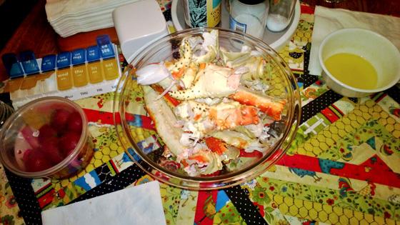 king crab shells