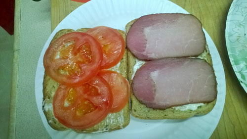 Canadian Bacon Sandwich